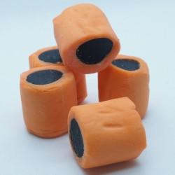 Überzogene Lakritzstücke Mango
