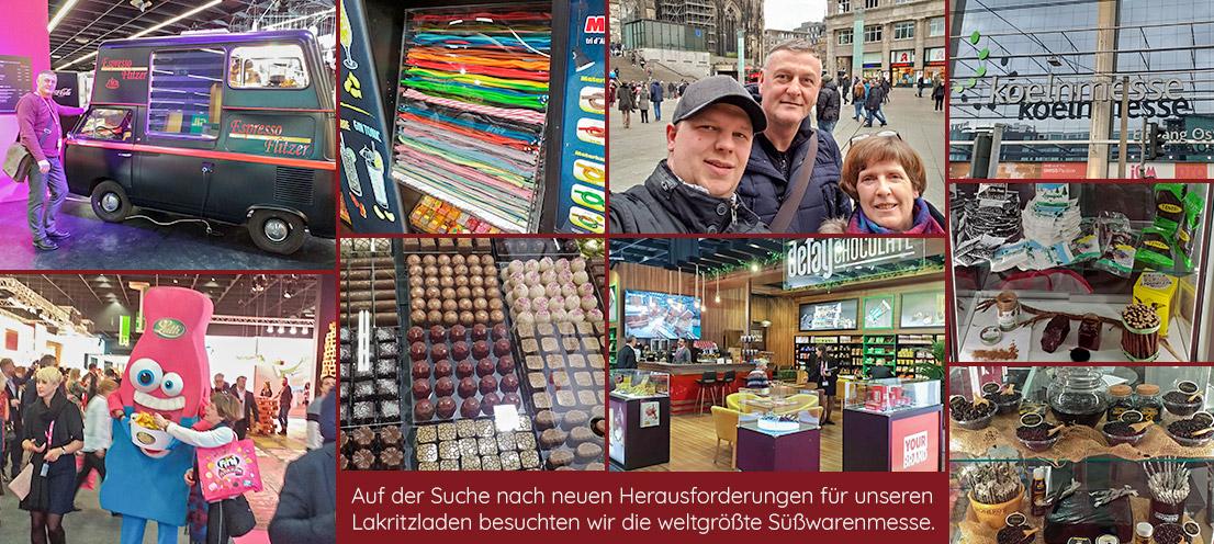 Auf der Suche nach neuen Herausforderungen für unseren Lakritz Laden besuchten wir die weltgrößte Süßwarenmesse.